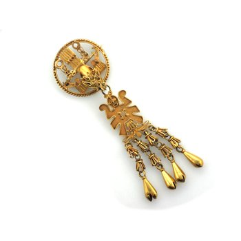 Gold Aztec Style Pin