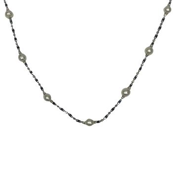 Pearl & Enamel Necklace