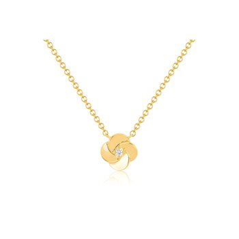 Gold And Diamond Petal Necklace