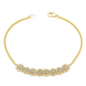 Petite Woven Bracelet - Silver Diamond