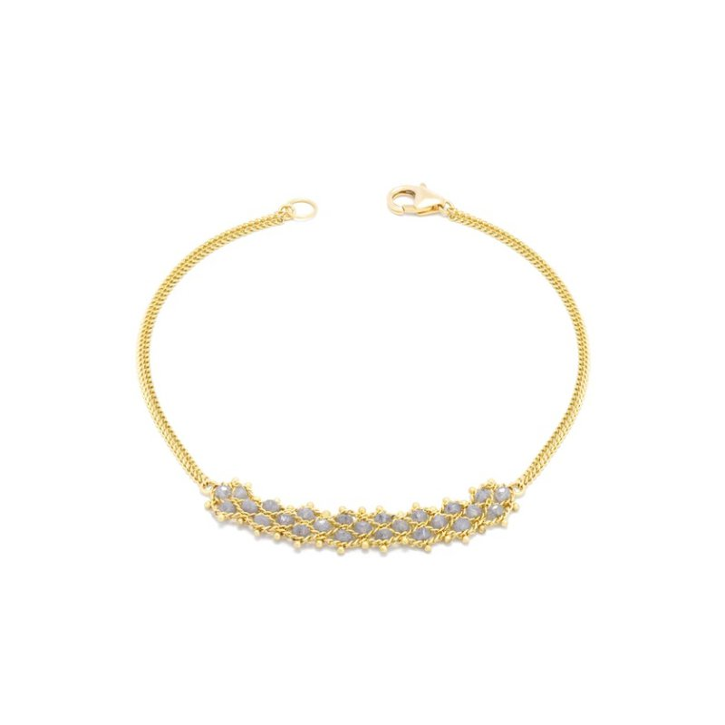 Amali Petite Woven Bracelet - Silver Diamond