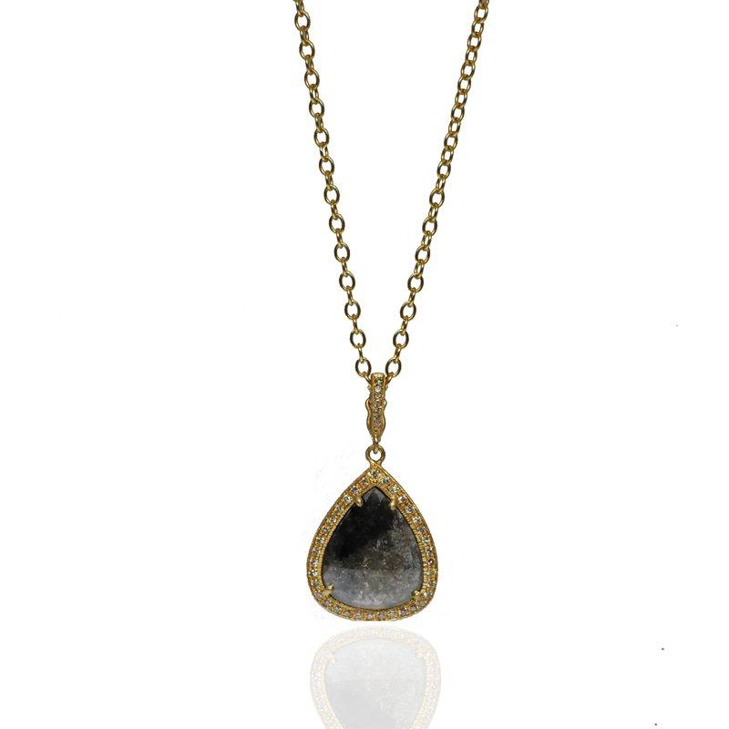 Yasuko Azuma Jewelry One of a Kind Grey Diamond Necklace