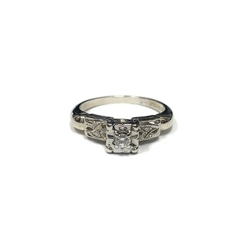 Vintage Illusion Set Diamond Ring