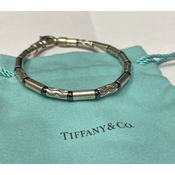 Tiffany & Co. Stamped Silver Link Bracelet