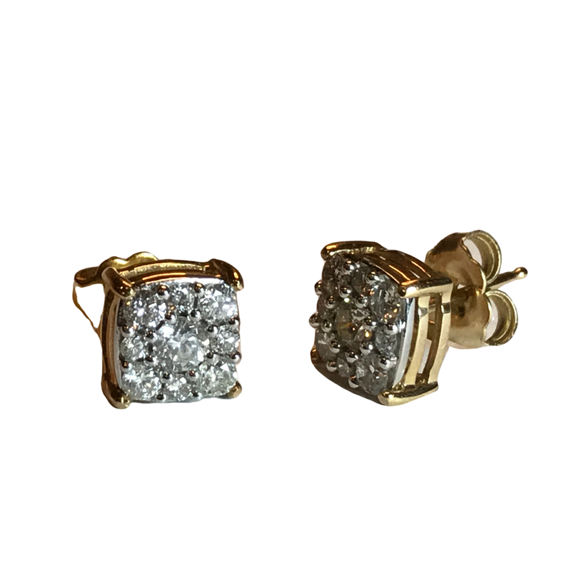 Antique, Estate & Consignment Diamond Cluster Stud Earrings