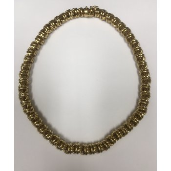 Rounded Yellow Gold Link Necklace