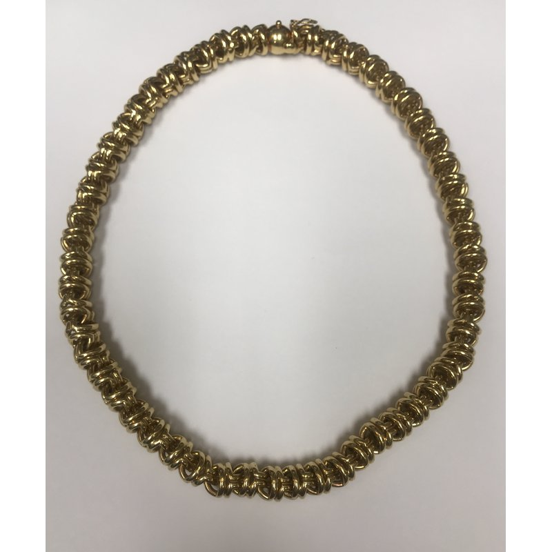 Antique, Estate & Consignment Rounded Yellow Gold Link Necklace