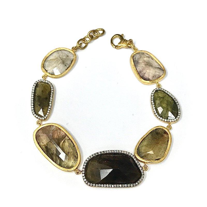 Antique, Estate & Consignment Tourmaline & Diamond Bracelet
