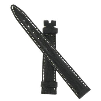 Black Sharkskin 14mm Strap