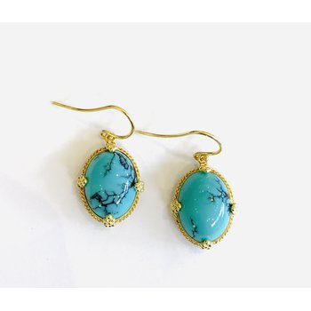 One of a Kind Turquoise Earrings