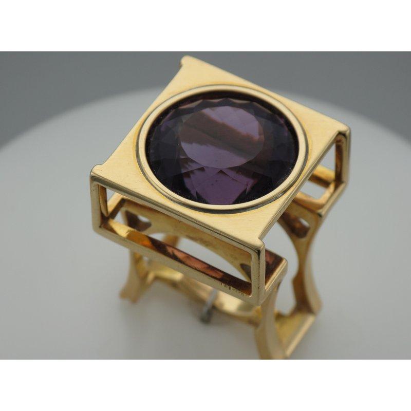 Antique, Estate & Consignment Geometric Amethyst Ring