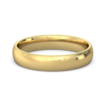 18k Yellow Gold 4mm Band