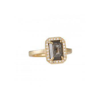 One of a Kind Brown Diamond Engagement Ring