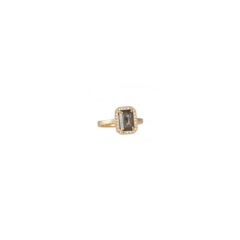 Rebecca Overmann One of a Kind Brown Diamond Engagement Ring
