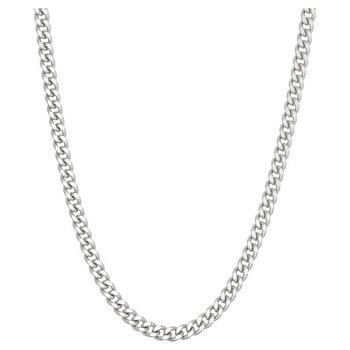 """Silver Curb Chain 24"""""""