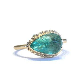 Emerald Ring - 14k Yellow Gold
