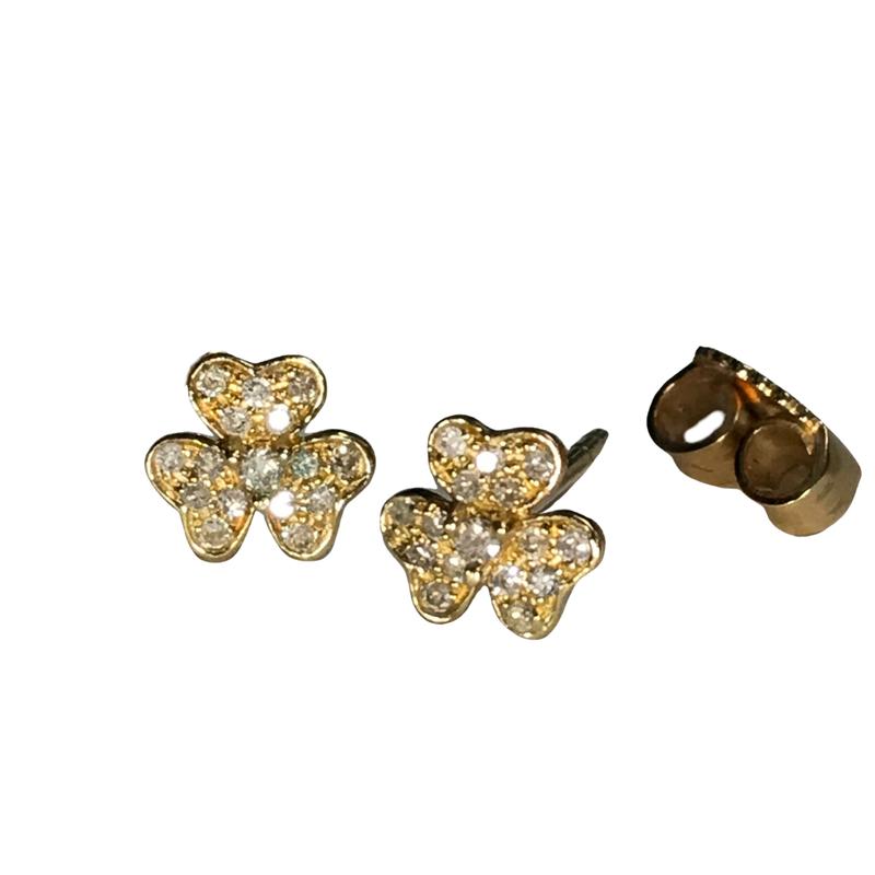 Getana Diamond Flower Stud Earrings