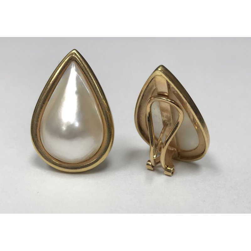 Antique, Estate & Consignment Pear Shape Pearl Earrings