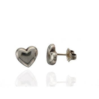 Pre-Owned Tiffany & Co Sterling Silver Heart Earrings