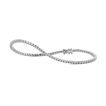 White Gold 1.00 Carat Diamond Tennis Bracelet
