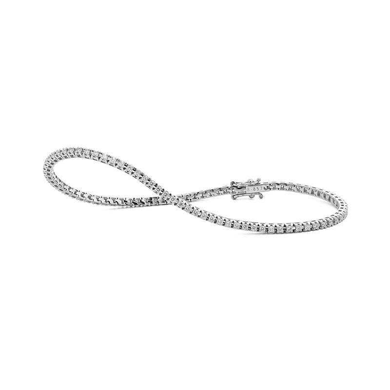 Facet Barcelona White Gold 1.00 Carat Diamond Tennis Bracelet