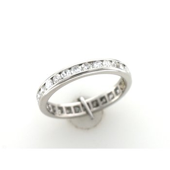 Single Cut Diamond Channel Eternity Band