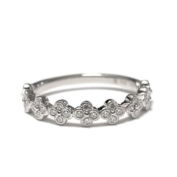 Diamond Floral Stacker Band