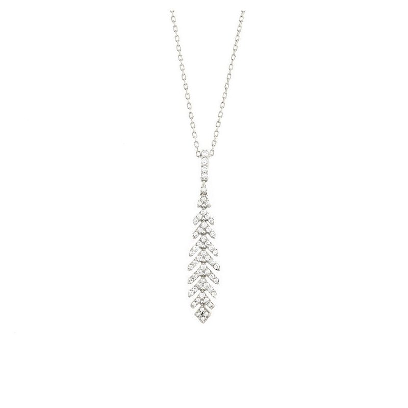 Facet Barcelona Diamond Feather Necklace