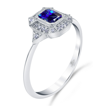 Vintage Inspired Sapphire Ring R4353