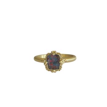 One of a Kind Boulder Opal Ring