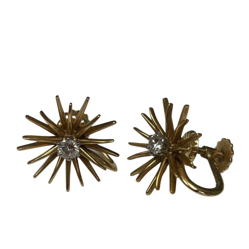 Antique, Estate & Consignment Diamond Starburst Clip Earrings