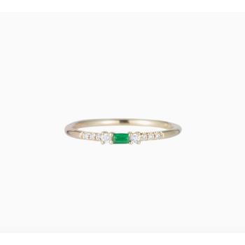 Emerald Petite Equilibrium Ring