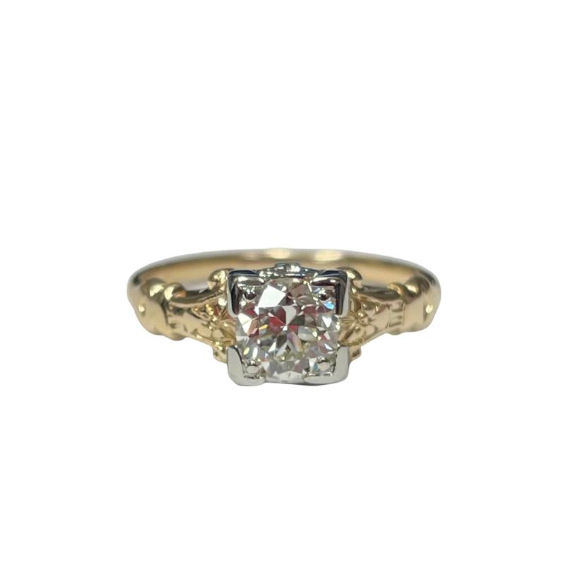 Antique, Estate & Consignment Two Tone Diamond Ring