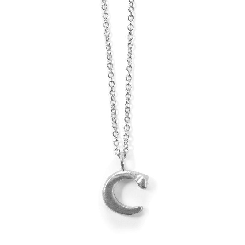 "Judi Powers Love Letter ""C"" Necklace"