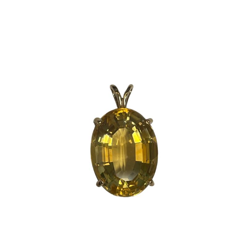 Antique, Estate & Consignment Oval Yellow Quartz Pendant