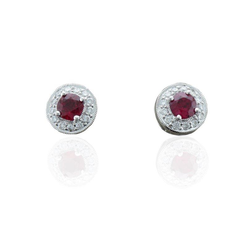 Kimberly Collins Ruby & Diamond Stud Earrings