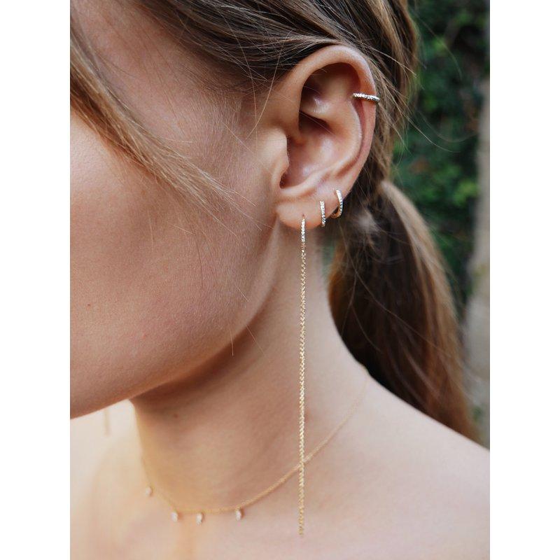 EF Collection Diamond Mini Huggie Earring