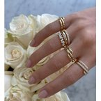 EF Collection Gold Swirl Ring