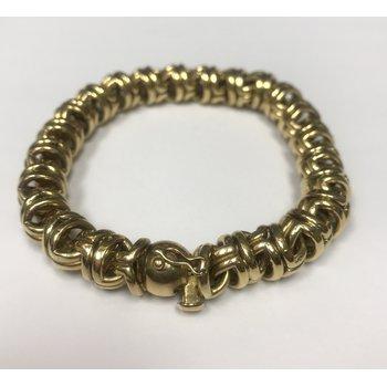 Rounded Gold Link Bracelet