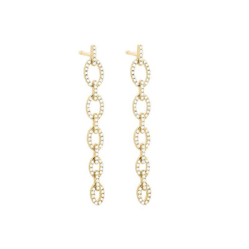 Facet Barcelona Diamond Link Drop Earrings