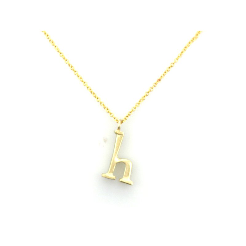 Judi Powers Initial 'H' Necklace