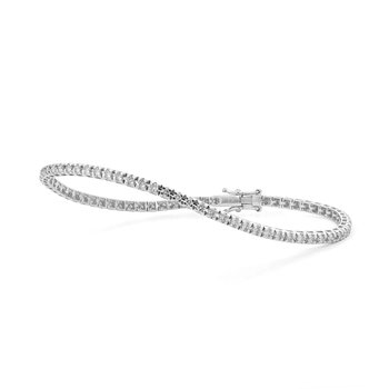 White Gold 2.00 Carat Diamond Tennis Bracelet