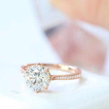 Victoria 8 Prong Diamond Ring