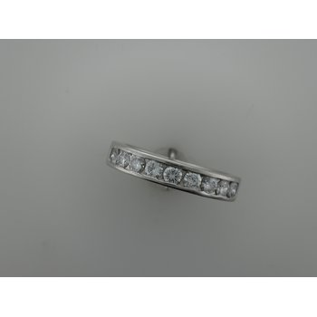 Platinum Diamond Channel Set Band