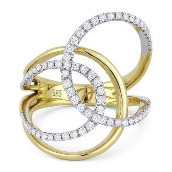 Diamond Fashion Twist Ring