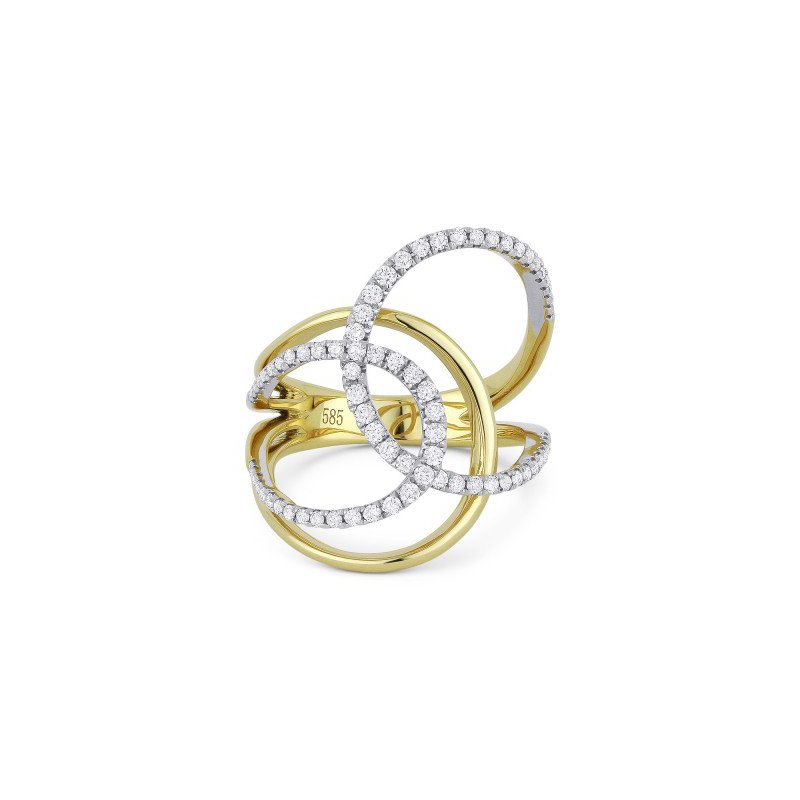Madison L Diamond Fashion Twist Ring