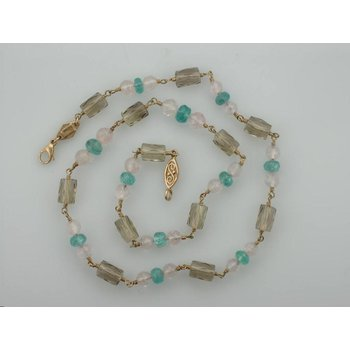 Quartz Beaded Necklace