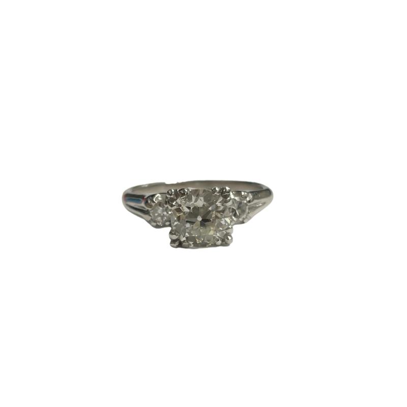 Antique, Estate & Consignment Old European Cut Three Stone Engagement Ring