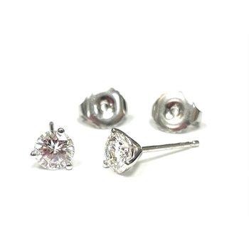 0.77 Carat Diamond Stud Earrings