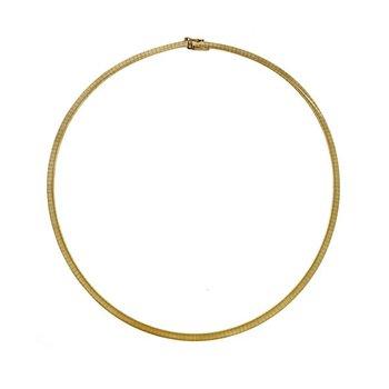14k Gold 4mm Omega Chain